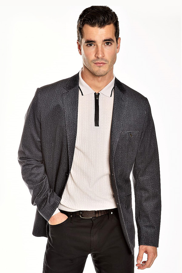 Haupt of Germany-Veluto Sport Jacket in Fancy Herring Bone fabric
