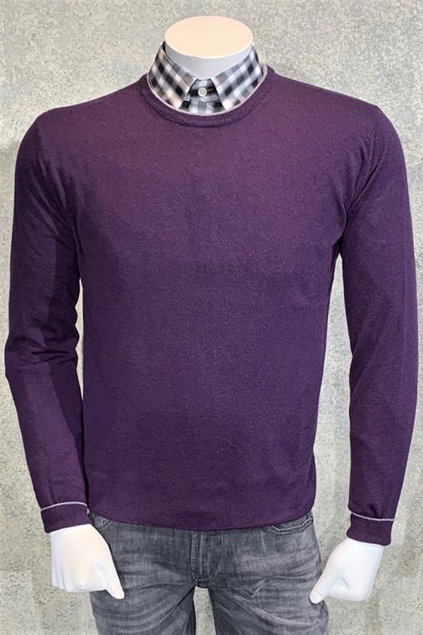 Italian Cashmere/Wool Crew Neck Sweater