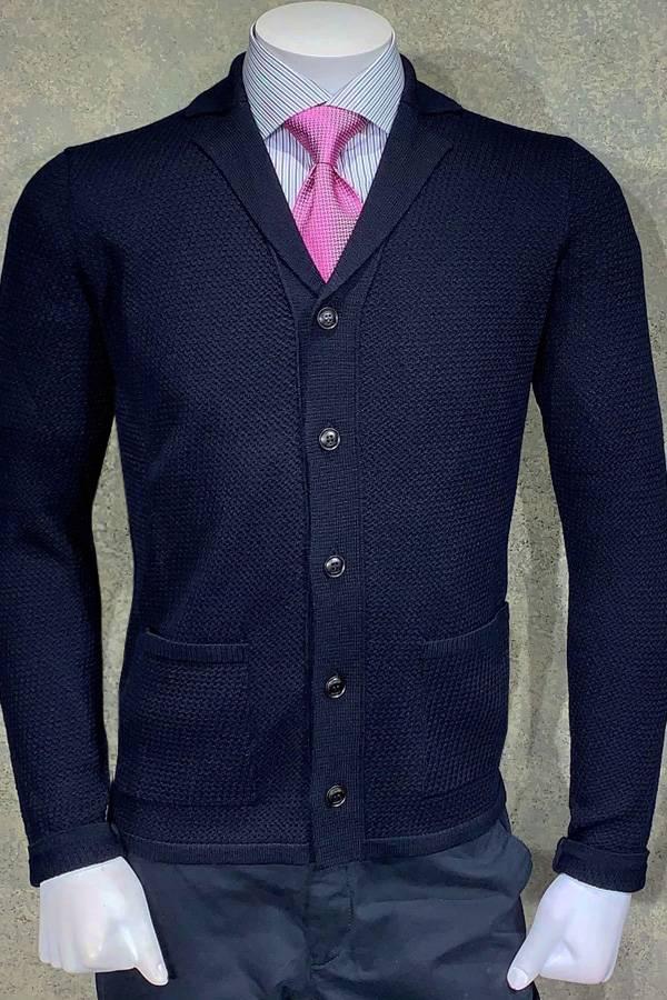 Bugatti Knit Cardi Jacket in Honeycon Weave