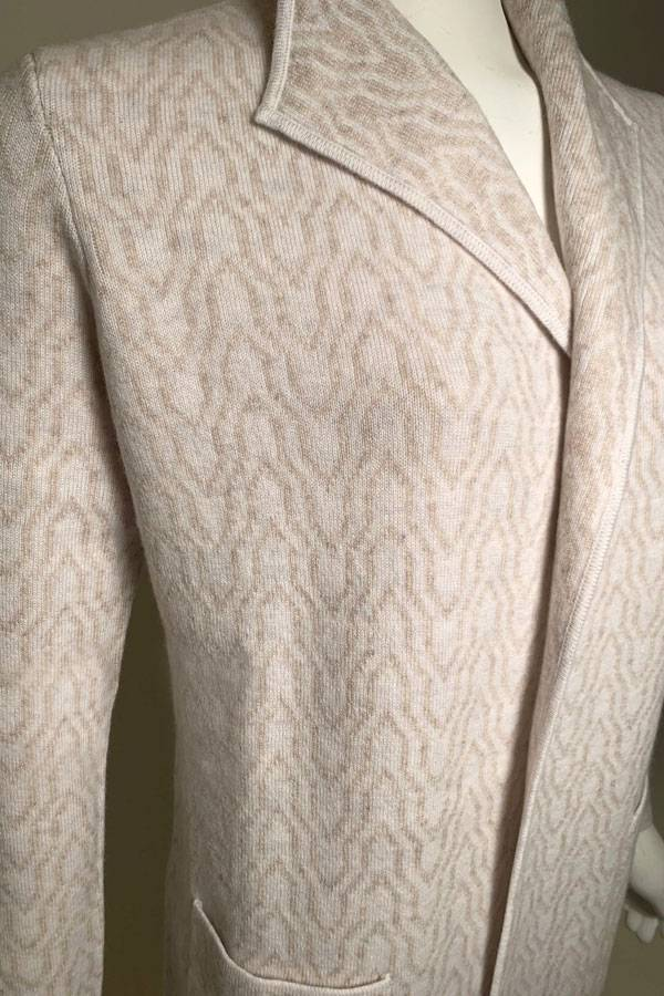 Reversible 100% Cashmere Chain Print Cardigan