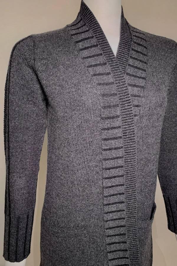 100% Cashmere Double Collar Cardigan