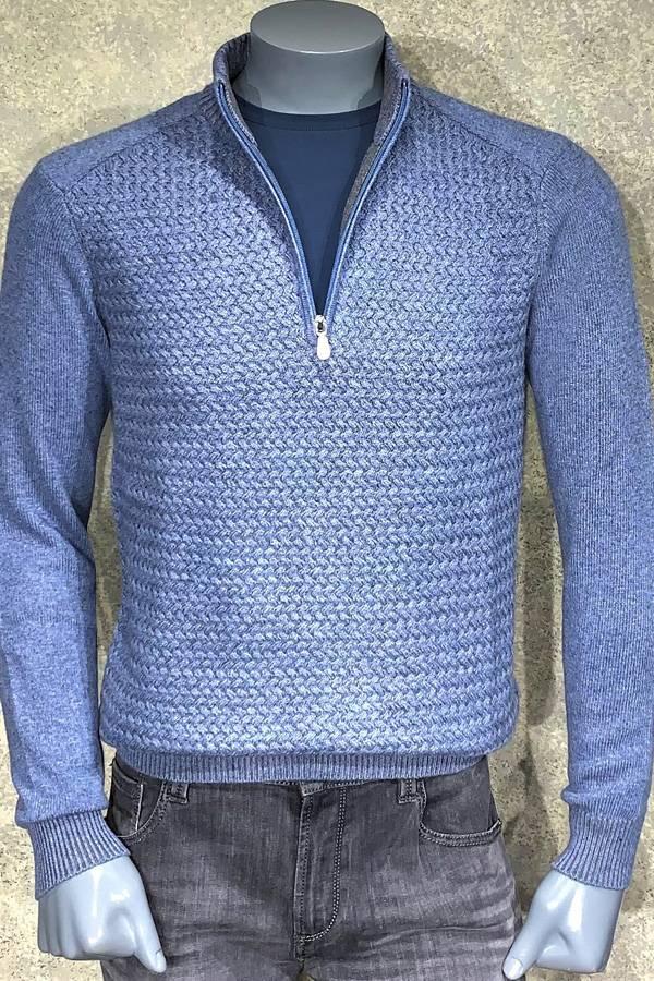 Cashmere/Wool Zip Mock Sweater