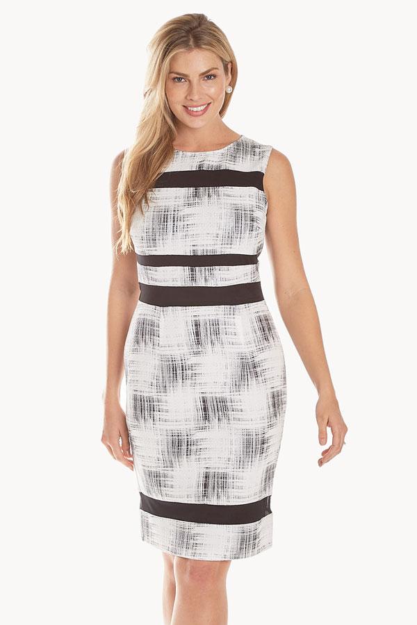 Woven Sleeveless Shift Dress